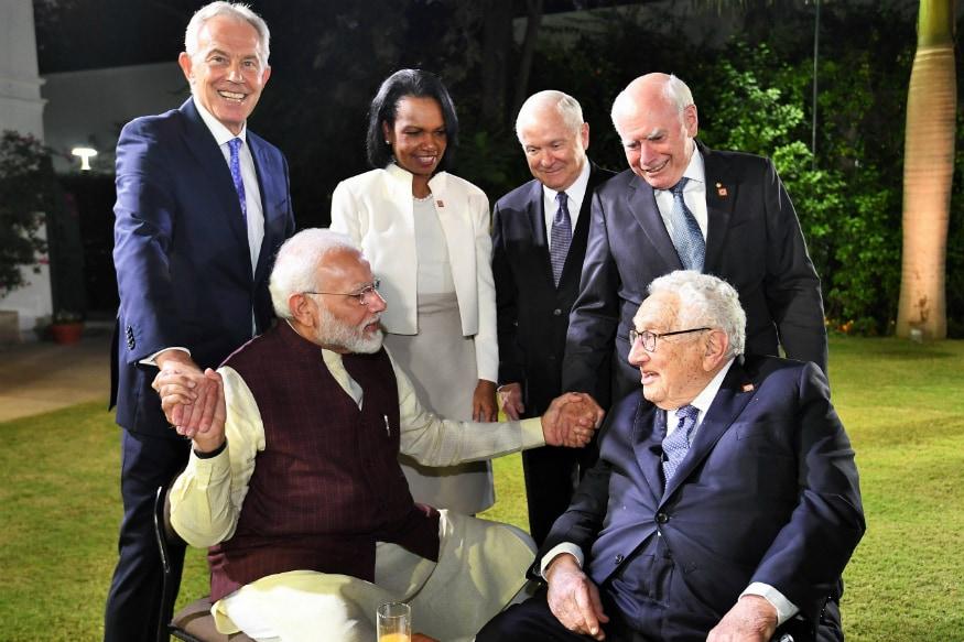 PM Modi Meets Members of JP Morgan International Council Including Former UK PM Tony Blair