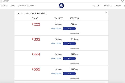 Reliance Jio All-In-One Rs 222 Plan Vs. Airtel Rs 249 And Vodafone Rs 229 Recharge