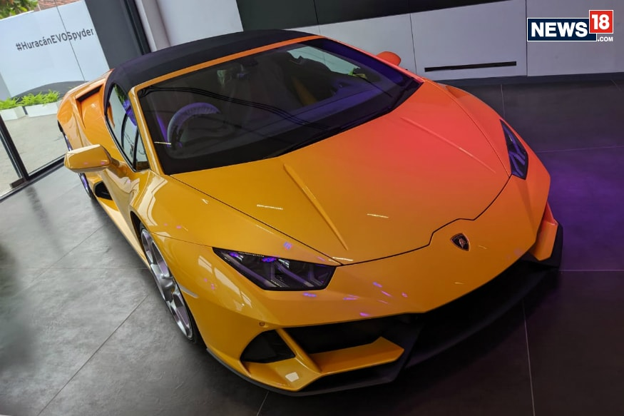 Lamborghini Huracan EVO Spyder Launched at Rs 4.10 Crore in India