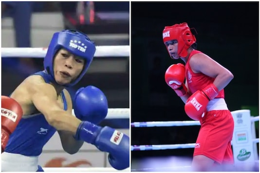 Mary Kom (L) and Nikhat Zareen play in the same 51kg category. (Photo Credit: BFI)