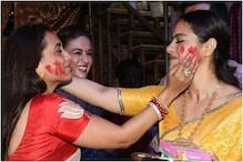 Kajol, Rani Mukerji's Pics From Frolic Sindoor Khela Will Make You Miss Durga Puja Already