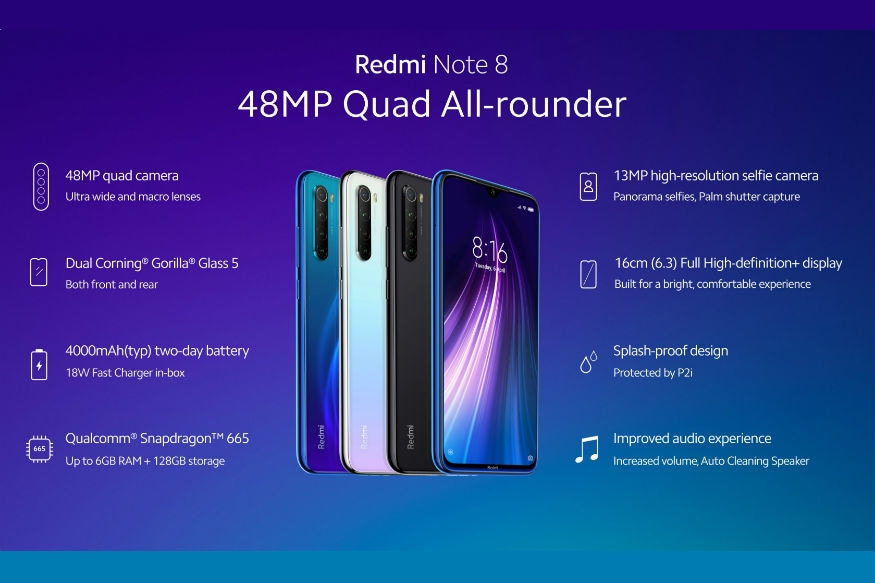 Redmi Note 8, Redmi Note 8 Pro Launched in India: Specs, Price and More