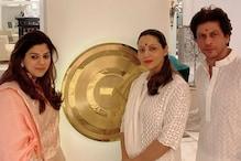 Shah Rukh and Gauri Khan Twin in White at Their Own Diwali Puja