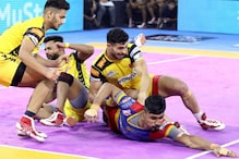 Pro Kabaddi 2019: UP Yoddha Lose to Telugu Titans 36-41