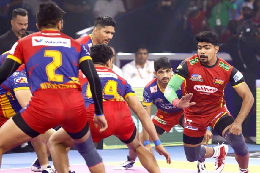 Pro Kabaddi 2019: Bengaluru Bulls Beat UP Yoddha in Extra-time to Enter Semi-final