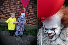 Mum Impresses 'IT' Fans By Dressing Her Son as 'Budget' Pennywise Clown for Halloween