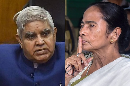 File photos of West Bengal Governor Jagdeep Dhankhar and Chief Minister Mamata Banerjee.