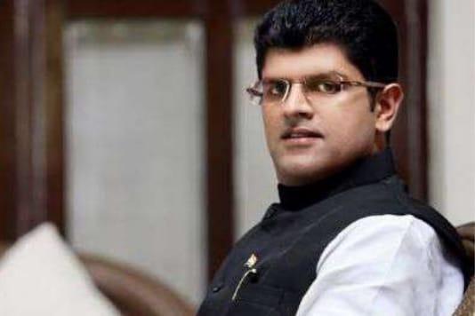 File photo of JJP leader Dushyant Chautala.