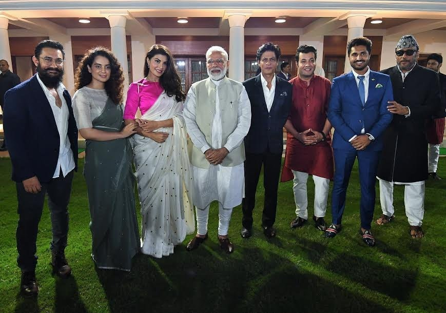 PM Narendra Modi and stars discuss Gandhi