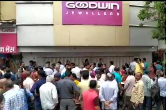 File photo:  People protested outside Goodwin Jewellers' Thane showroom.