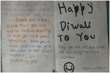 Little Girl's 'Thank You' Card to CISF Soldiers on Diwali is Lighting Hearts