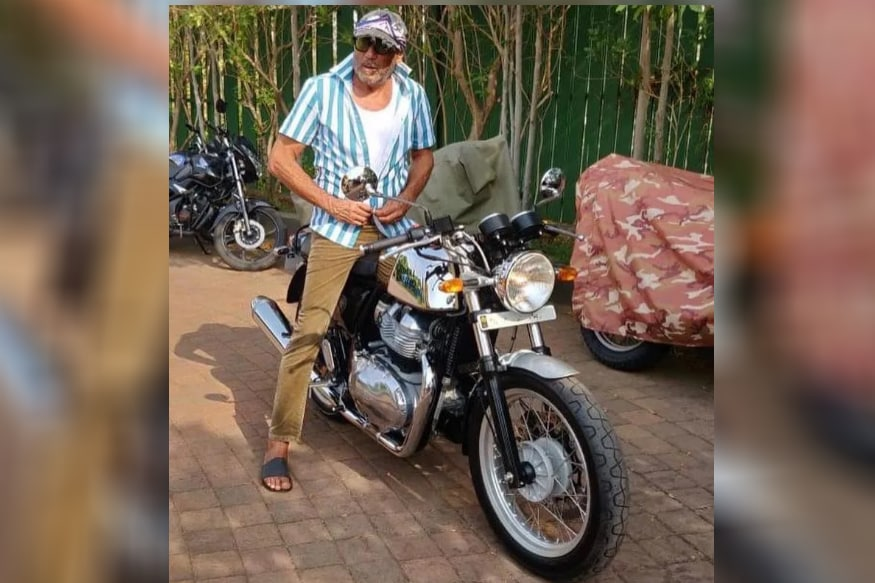 Bollywood Actor Jackie Shroff Brings Home a New Royal Enfield Continetntal GT 650