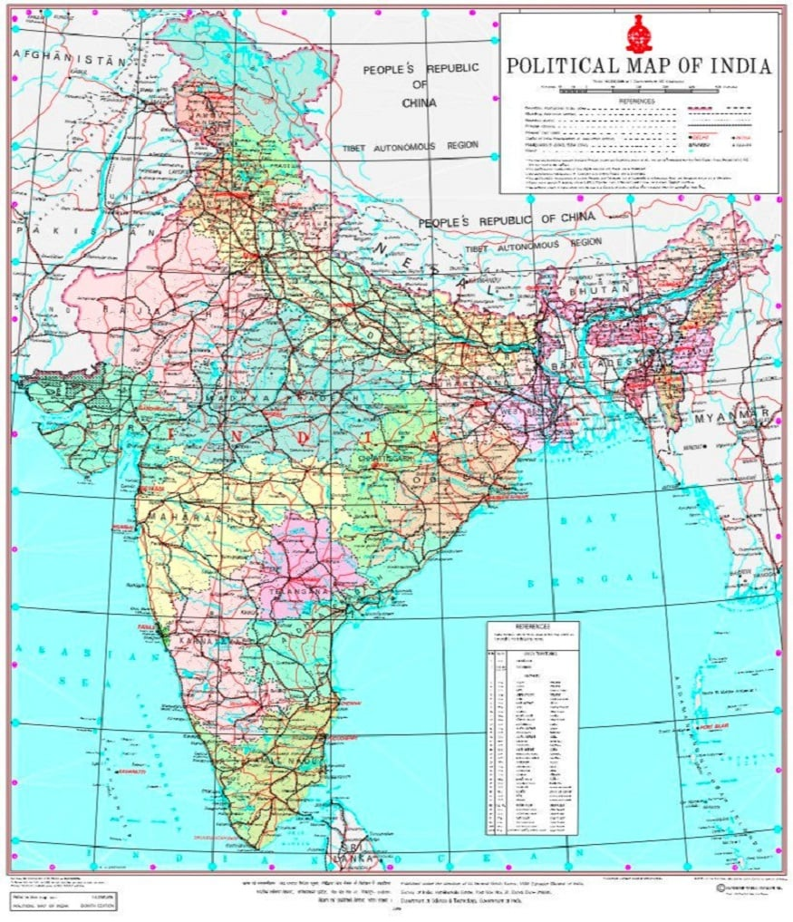 map of india with districts Govt Releases New Map Of India With Union Territories Of Jammu And Kashmir Ladakh map of india with districts