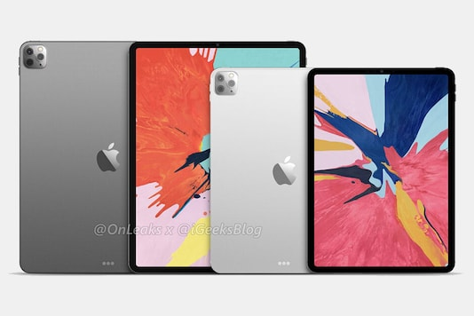 Leaked images of Apple's upcoming iPad Pro with triple rear cameras. (Image: OnLeaks)