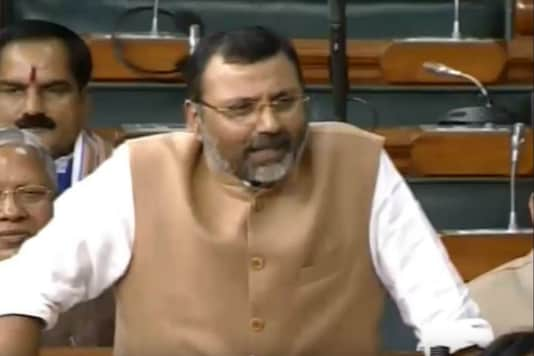 BJP MP Nishikant Dubey in Lok Sabha on Monday