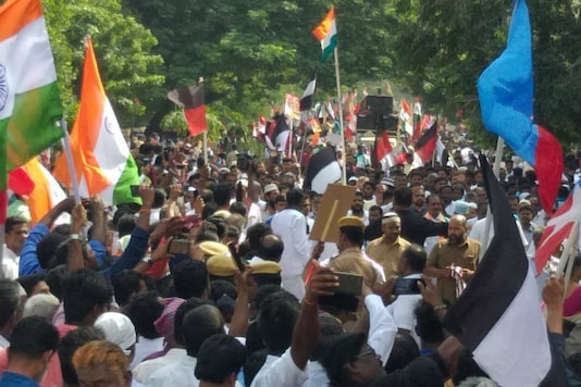 File photo of DMK rally against CAA in Chennai. (Photo by Poornima Murali)