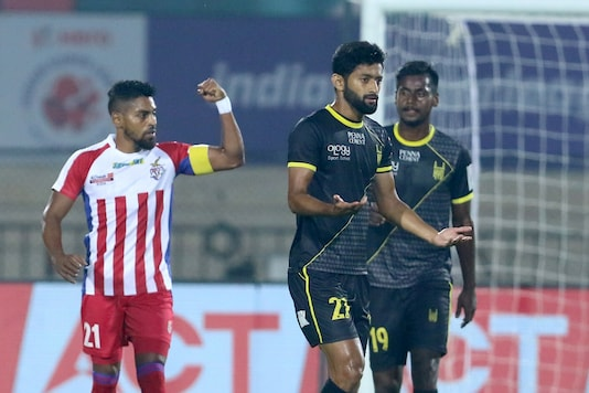 Roy Krishna rescued a point for ATK against Hyderabad FC. (Photo Credit: ISL)