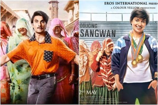 Image: Jayeshbhai Jordaar  (L), Tanu Weds Manu Returns film posters