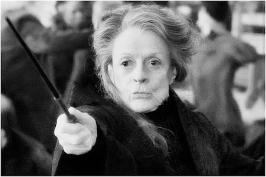 Actress Maggie Smith in Harry Potter film