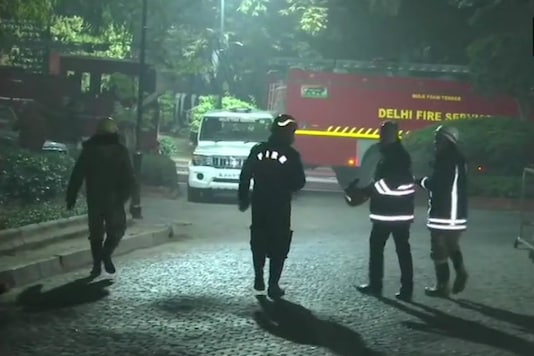 The minor fire that broke out at Prime Minister's residence at 7 Lok Kalyan Marg is under control now. (Image tweeted by ANI)