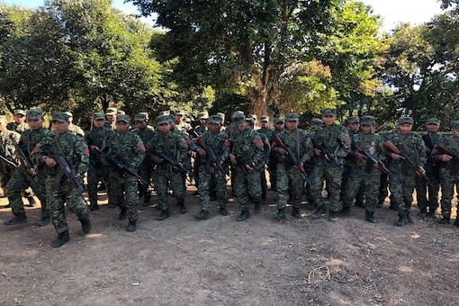 File photo of NSCN-K cadres during a routine training programme at an undisclosed location. (News18)