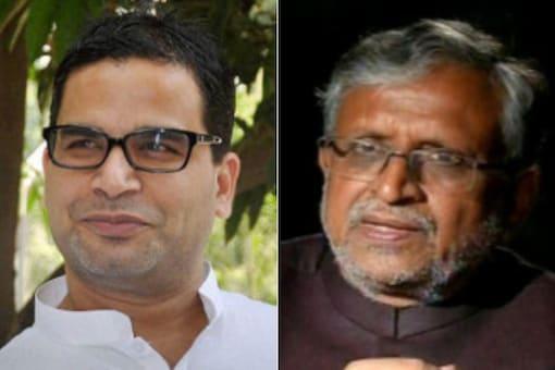 File photos of JD(U) leader Prashant Kishor (left) and Bihar Deputy CM Sushil Modi.