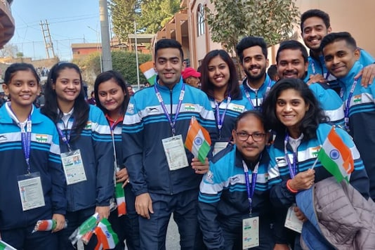 File photo of India's table tennis contingent at SAG 2019. (Photo Credit: @TableTennisInd)