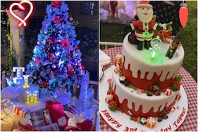 In Pics: Taimur Ali Khan's Santa Claus-inspired Cake and Christmas Theme Birthday Party