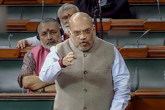 Union Home Minister Amit Shah speaks in the Lok Sabha during the ongoing Winter Session of Parliament, in New Delhi on  Tuesday.