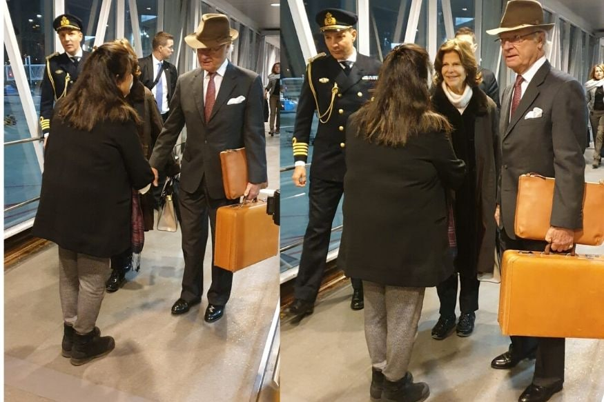 Swedish Royal Couple Travels to India, Wins Hearts for Their Humility By Carrying Their Own Bags