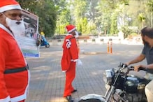 WATCH: Goa Traffic Cops Dressed As Santa Claus Hand Out Treats and Educating Traffic Violators