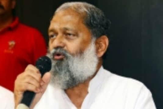 File photo of Haryana Home Minister Anil Vij. (Image : IANS)