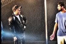 Virender Sehwag Gives Cricketing Tips To Inside Edge Actor Tanuj Virwani