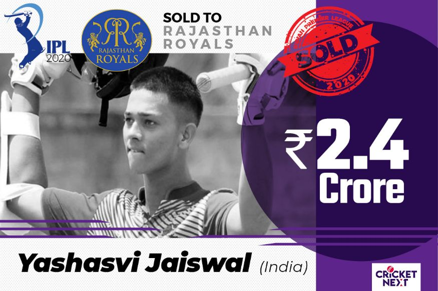 17-year-old Yashasvi Jaiswal goes to Rajasthan Royals for 2.4 Crore. His base price was 20L. (Image: Network18 Creative)