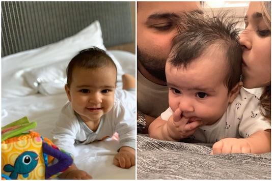 Samaira Sharma, 'Hitman' Rohit Sharma's daughter, just turned one! | Image credit: Twitter