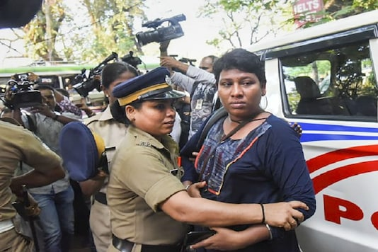 Activist Bindu Ammini was one of the two women to enter Sabarimala last year. (PTI photo)