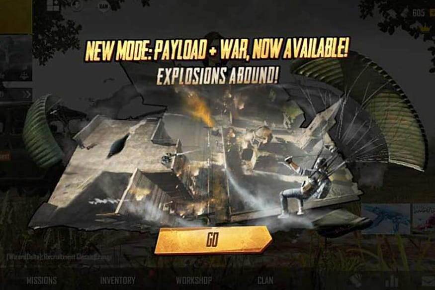 PUBG Mobile Update Brings Combination of Payload and War Mode