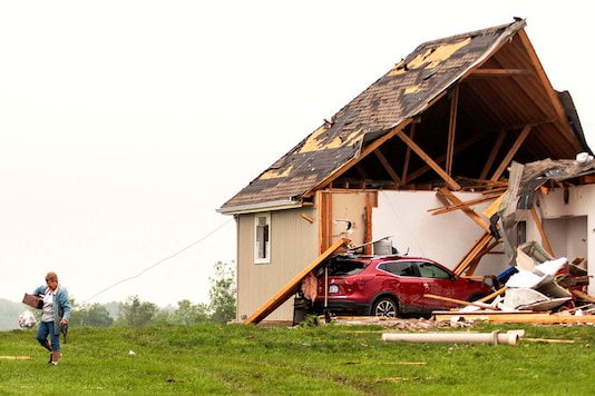 File photo of a damaged house after a tornado touched down. (Image: Reuters)