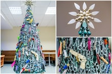 One of a Kind: Lithuanian Airport Decorates Christmas Tree With Bullets and Scissors