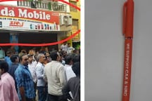 Protests Outside Chennai Mobile Shop Selling Pens with Pro-CAA Message, Police Probe On