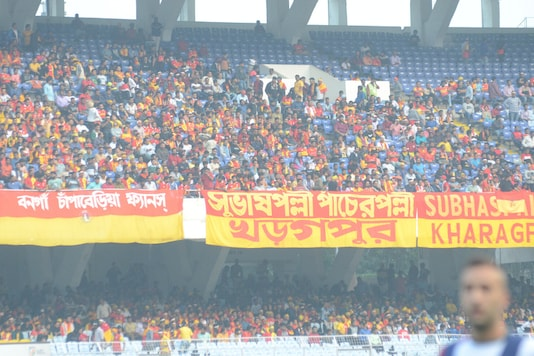 East Bengal supporters. (Photo Credit: AIFF)
