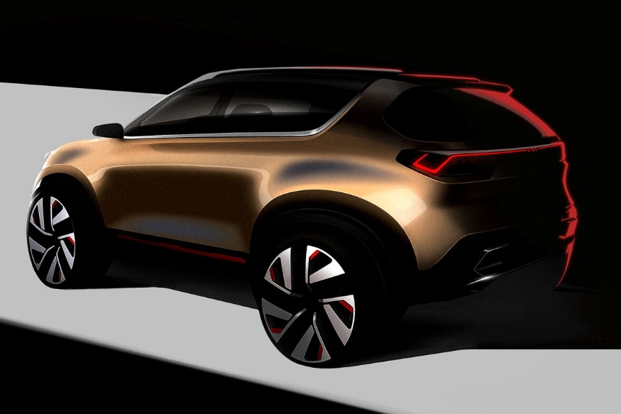 Kia Motors India Shares Sneak Peek of Compact SUV Concept Ahead of Auto Expo Reveal