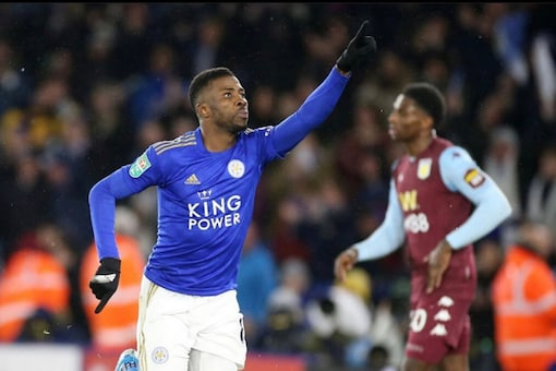 Kelechi Iheanacho salvaged a draw for Leicester City. (Photo Credit: @67Kelechi)