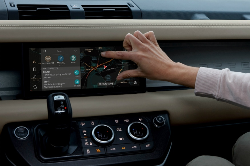 Land Rover Defender dual e-conncectivity sim. (Image source: Jaguar Land Rover)