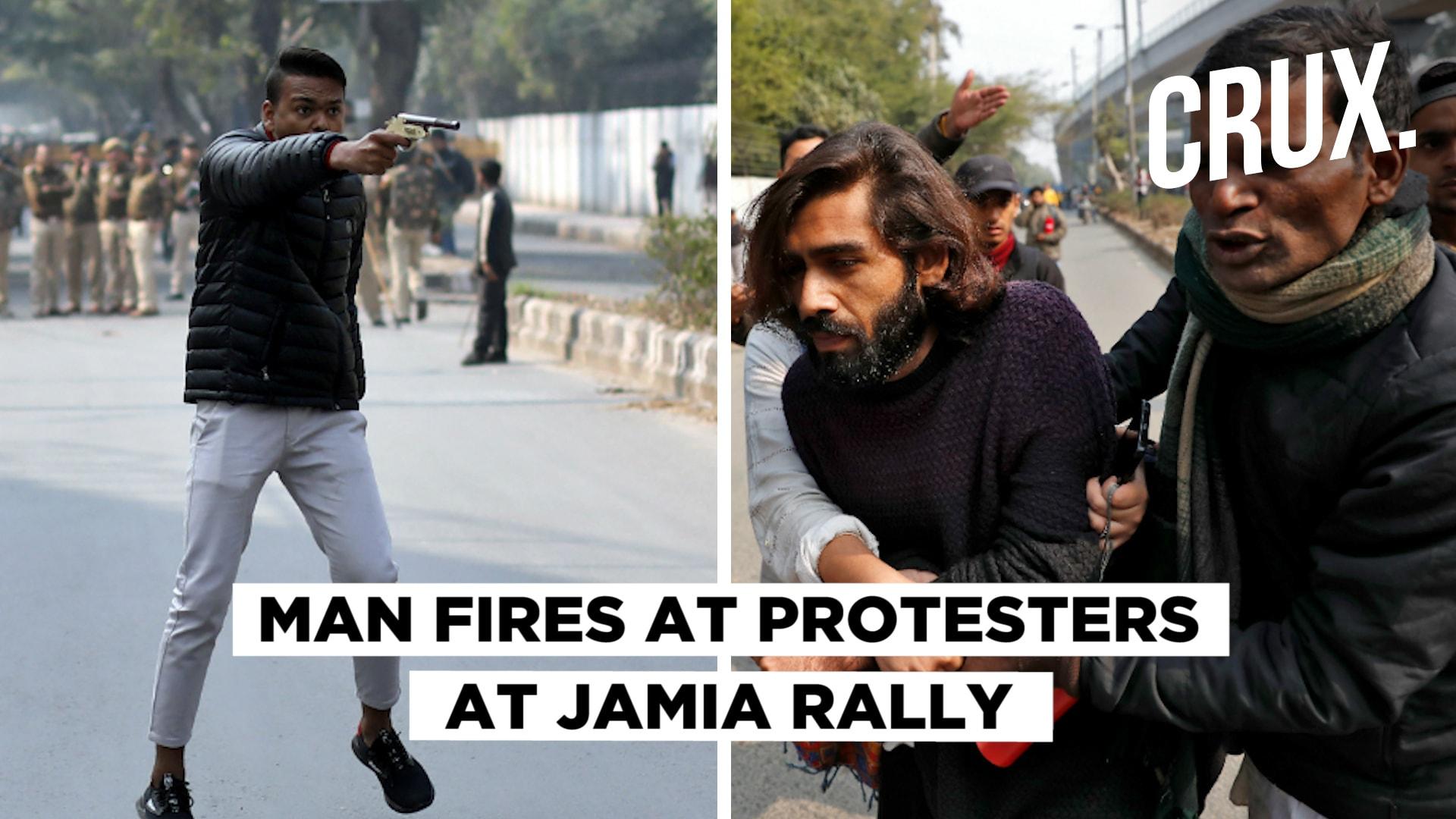 Man Opens Fire in Delhis Jamia at Anti-CAA Rally, Shouts Jai Shri Ram, Yeh Lo Azadi
