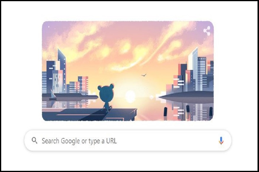 Google Doodle Rings in New Year with Froggy Pondering over Resolutions 2020