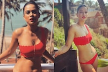 Nia Sharma Begins Her New Year with a Dip in the Pool in Red Bikini, Pictures Go Viral