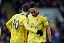 Premier League: Aubameyang Scores But Sees Red Card as Arsenal Draw With Crystal Palace