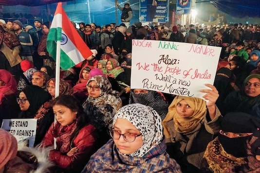 Protesters gather at Shaheen Bagh to oppose the amended Citizenship Act in New Delhi. (PTI File Photo)
