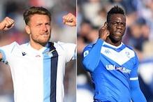 Serie A: Ciro Immobile Double Lifts Lazio after Insulted Mario Balotelli Scores for Brescia